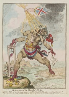 'Destruction of the French collossus', by James Gillray, published by  Hannah Humphrey - NPG D12662