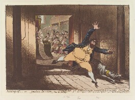 'Stealing off; - or - prudent secession', by James Gillray, published by  Hannah Humphrey - NPG D12665