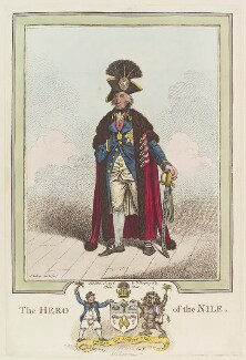 Horatio Nelson ('The Hero of the Nile'), by James Gillray, published by  Hannah Humphrey, published 1 December 1798 - NPG  - © National Portrait Gallery, London