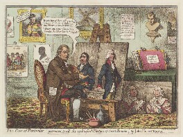 'Two pair of portraits', by James Gillray, published by  John Wright, published 1 December 1798 - NPG  - © National Portrait Gallery, London