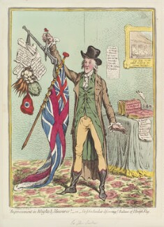 Sir John Sinclair, 1st Bt, by James Gillray, published by  Hannah Humphrey - NPG D12670