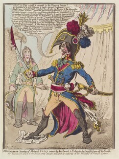 Napoleon Bonaparte, by James Gillray, published by  Hannah Humphrey, published 8 December 1798 - NPG  - © National Portrait Gallery, London