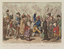 'Meeting of the monied interest', by James Gillray, published by  Hannah Humphrey - NPG D12672