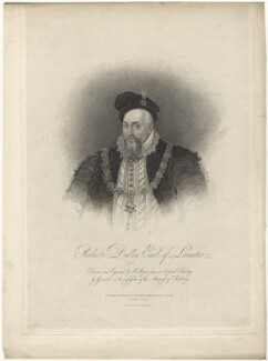 Robert Dudley, 1st Earl of Leicester, by Henry Meyer, printed and published by  William Radclyffe, printed and published by  Thomas Radclyffe, published by  Nathaniel Merridew, published by  John Merridew, after  Sir William Segar - NPG D13215