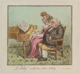 'Lullaby! - sooth him with a lullaby!', by James Gillray, published by  Hannah Humphrey, published 12 July 1798 - NPG  - © National Portrait Gallery, London