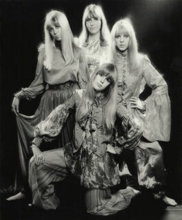 Pattie Boyd; Cynthia Lennon; Maureen Starr (née Cox, later Tigrett); Helen Mary ('Jenny') Fleetwood (née Boyd), by Ronald Traeger - NPG x125445