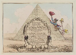 'Egyptian sketches', by James Gillray, published by  Hannah Humphrey, published 12 March 1799 - NPG  - © National Portrait Gallery, London