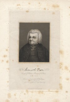 Samuel Parr, by William Henry Worthington - NPG D13216