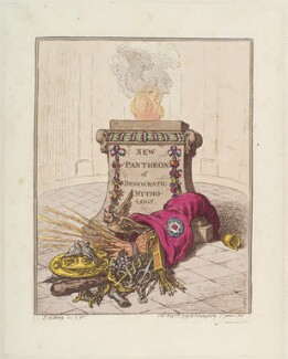 'New Pantheon of Democratic Mythology', by James Gillray, published by  Hannah Humphrey, published 7 May 1799 - NPG  - © National Portrait Gallery, London