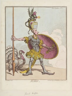 George Walpole ('Mars'), by James Gillray, published by  Hannah Humphrey, published 7 May 1799 - NPG  - © National Portrait Gallery, London
