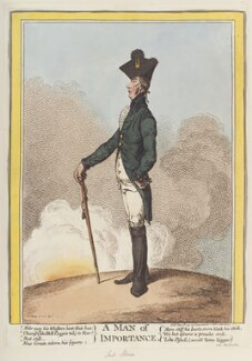 Francis Rawdon-Hastings, 1st Marquess of Hastings ('A man of importance'), by James Gillray, published by  Hannah Humphrey - NPG D12693