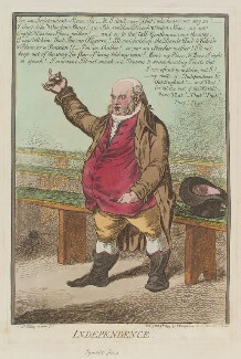 Thomas Tyrwhitt Jones ('Independence'), by James Gillray, published by  Hannah Humphrey, published 9 June 1799 - NPG  - © National Portrait Gallery, London