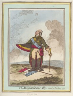 Paul I, Emperor of Russia ('The magnanimous ally'), by James Gillray, published by  Hannah Humphrey - NPG D12707