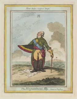 Paul I, Emperor of Russia ('The magnanimous ally'), by James Gillray, published by  Hannah Humphrey - NPG D12708