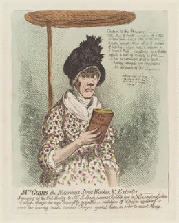 Jane Gibbs ('Mrs Gibbs the notorious street-walker, and extorter'), by James Gillray, published 23 September 1799 - NPG D12709 - © National Portrait Gallery, London
