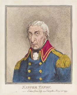 James Napper Tandy ('Napper Tandy'), by James Gillray, published by  Hannah Humphrey, published 8 November 1799 - NPG D12710 - © National Portrait Gallery, London