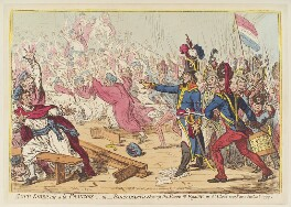 Napoleon Bonaparte, by James Gillray, published by  Hannah Humphrey - NPG D12714