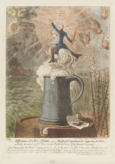 William Pitt ('Effusions of a pot of porter, - or - ministerial conjurations for supporting the war'), by James Gillray, published by  Hannah Humphrey - NPG D12715