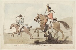 William Henry Fortescue, Earl of Clermont ('A charge at Ascot 1800. Clear the course! or virtue in danger'), by Unknown artist, published by  John Harris - NPG D12748