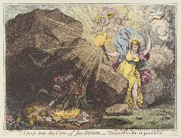 'A peep into the cave of Jacobinism', by James Gillray, published by  John Wright - NPG D12749