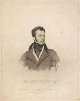 Edward Gibbon Wakefield, by Benjamin Holl, published by  Martin Colnaghi, after  Abraham Wivell - NPG D13224