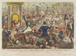 'The Union Club', by James Gillray, published by  Hannah Humphrey, published 21 January 1801 - NPG  - © National Portrait Gallery, London