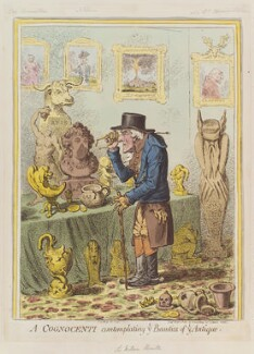 A Cognocenti Contemplating ye Beauties of ye Antique (Emma Hamilton; Horatio Nelson; Sir William Hamilton), by James Gillray, published by  Hannah Humphrey, published 11 February 1801 - NPG D12755 - © National Portrait Gallery, London