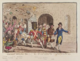 'Integrity retiring from office!', by James Gillray, published by  Hannah Humphrey - NPG D12756