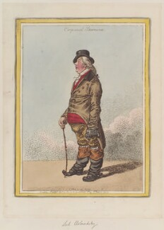 George James Cholmondeley, 1st Marquess of Cholmondeley ('Corporeal stamina'), by James Gillray, published by  Hannah Humphrey - NPG D12760