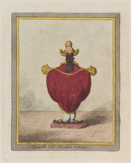 Sir William Hamilton ('From Sir William Hamilton's collection'), by James Gillray, published by  Hannah Humphrey - NPG D12761