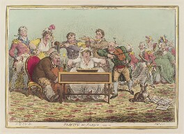 'Playing in parts', by James Gillray, published by  Hannah Humphrey, after  Brownlow North - NPG D12762