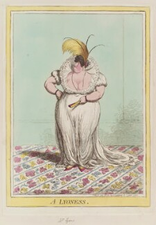 Polly Lyon de Symons (née Goldsmid) ('A lyoness'), by James Gillray, published by  Hannah Humphrey - NPG D12767