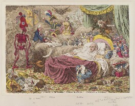 'Political dreamings! - Visions of peace! - Perspective horrors!', by James Gillray, published by  Hannah Humphrey - NPG D12769