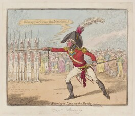 'Forming a line on the parade', by James Gillray, published by  Hannah Humphrey, published 12 November 1801 - NPG D12771 - © National Portrait Gallery, London