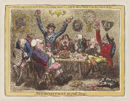 'Anacreontick's in full song', by James Gillray, published by  Hannah Humphrey - NPG D12773