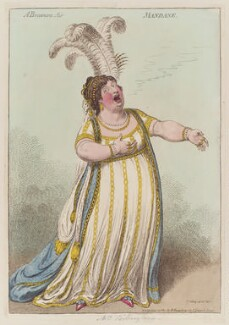 Elizabeth Billington (née Weichsel) ('A bravura air mandane'), by James Gillray, published by  Hannah Humphrey, published 22 December 1801 - NPG  - © National Portrait Gallery, London
