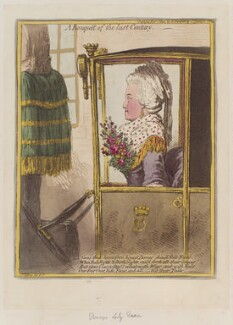'A bouquèt of the last century' (Mary, Lady Dacre (née Fludyer)), by James Gillray, published by  Hannah Humphrey - NPG D12779