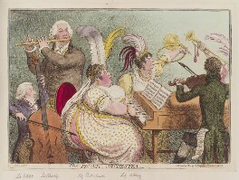 'The Pic-Nic orchestra', by James Gillray, published by  Hannah Humphrey - NPG D12789