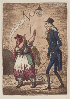 Joseph Wall ('Governor Wall's ghost!'), by James Gillray, published by  Hannah Humphrey, published 21 July 1802 - NPG  - © National Portrait Gallery, London