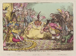'Introduction of Citizen Volpone and his suite, at Paris', by James Gillray, published by  Hannah Humphrey - NPG D12794