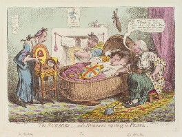 'The nursery, with Britannia reposing in peace', by and published by James Gillray, published 4 December 1802 - NPG D12795 - © National Portrait Gallery, London