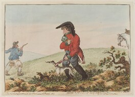 'The keenest sportsman in Broomswell camp, 1803', by James Gillray - NPG D12796