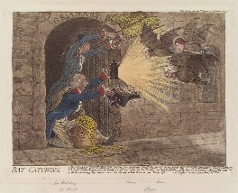 'Bat-catching', by and published by James Gillray, published 19 January 1803 - NPG D12801 - © National Portrait Gallery, London