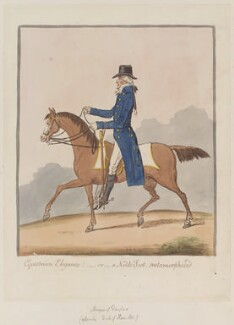 Alexander Hamilton, 10th Duke of Hamilton ('Equestrian elegance! - or - a noble Scot, metamorphosed'), by James Gillray, published by  Hannah Humphrey, published 7 May 1803 - NPG  - © National Portrait Gallery, London