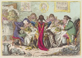'Germans eating sour-krout', by James Gillray, published by  Hannah Humphrey, published 7 May 1803 - NPG  - © National Portrait Gallery, London