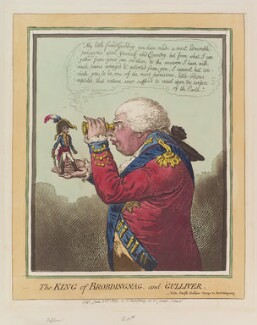 'The King of Brobdingnag, and Gulliver' (Napoléon Bonaparte; King George III), by James Gillray, published by  Hannah Humphrey, published 26 June 1803 - NPG  - © National Portrait Gallery, London