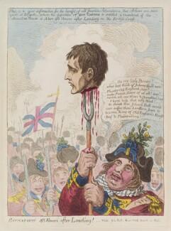 Napoléon Bonaparte ('Buonapartè, 48 hours after landing!'), by James Gillray, published by  Hannah Humphrey - NPG D12817