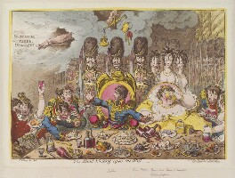 'The hand-writing upon the wall', by and published by James Gillray - NPG D12820