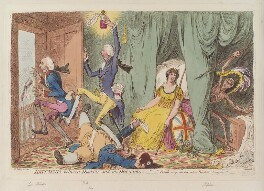 'Britannia between death and the doctor's', by James Gillray, published by  Hannah Humphrey - NPG D12830