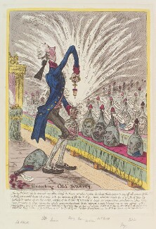 'Uncorking old-sherry', by James Gillray, published by  Hannah Humphrey - NPG D12841